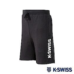 K-SWISS KS Logo Sweatshorts棉質短褲-男-黑