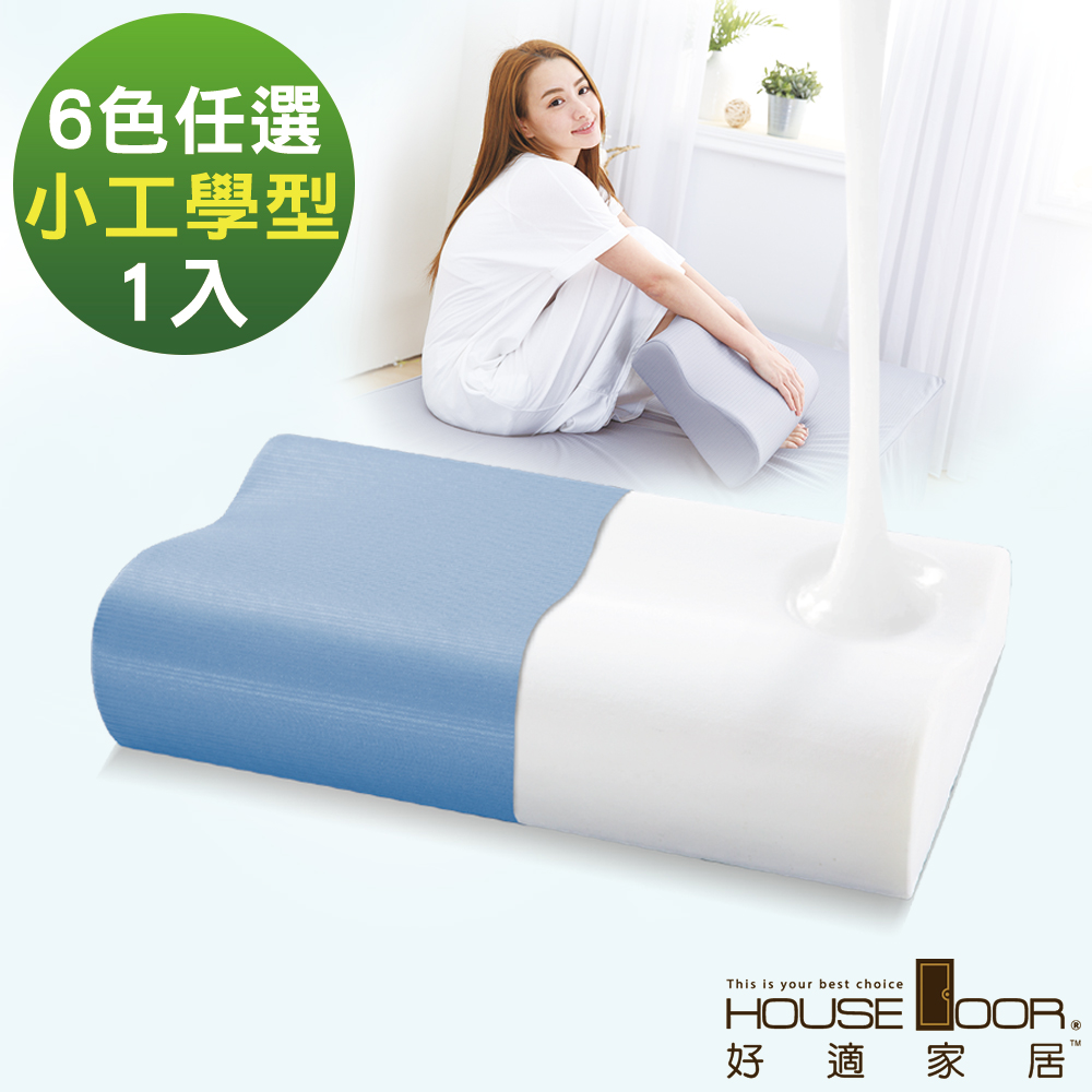 House Door 歐美熱銷款 大和防蹣抗菌表布 工學型釋壓記憶枕-小尺寸1入