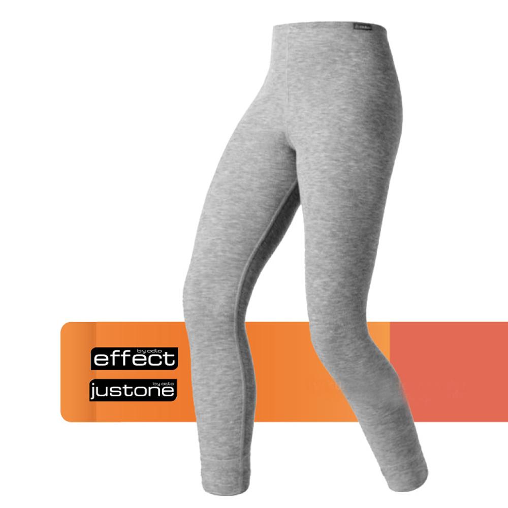 瑞士 ODLO warm effect 女機能型銀離子保暖長褲_深麻灰