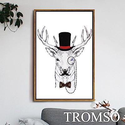 TROMSO北歐風尚板畫有框畫-公爵麋鹿40X60CM