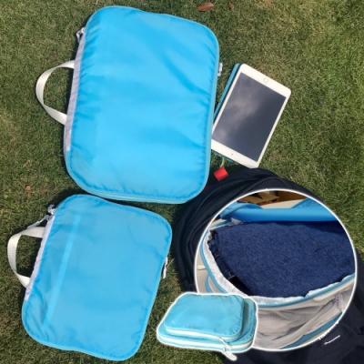 EZlife神奇衣物縮小收納袋2件組(大+小)