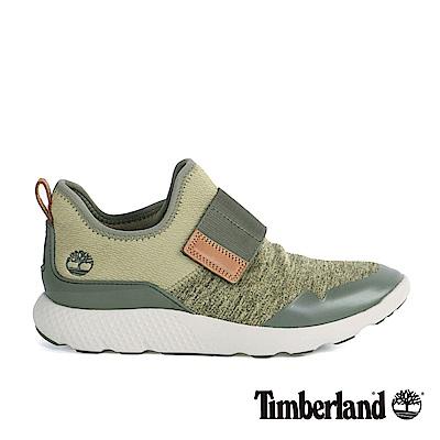 Timberland 男款深綠色網布綁帶休閒鞋