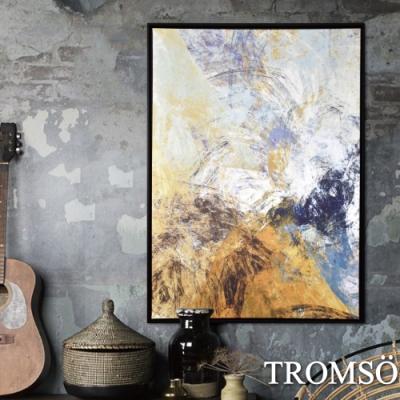 TROMSO 時尚風華抽象有框畫大幅-晨光雲彩W961