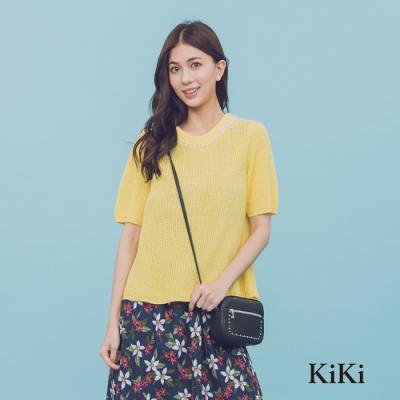 【KiKi】名媛手工珠串-針織衫(三色)
