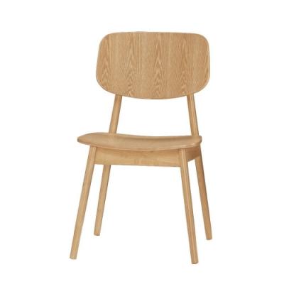 MUNA 約翰餐椅(板)(實木)(4入) 56X47.5X77cm