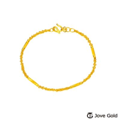 Jove Gold 漾金飾 眼波流轉黃金手鍊-粗款