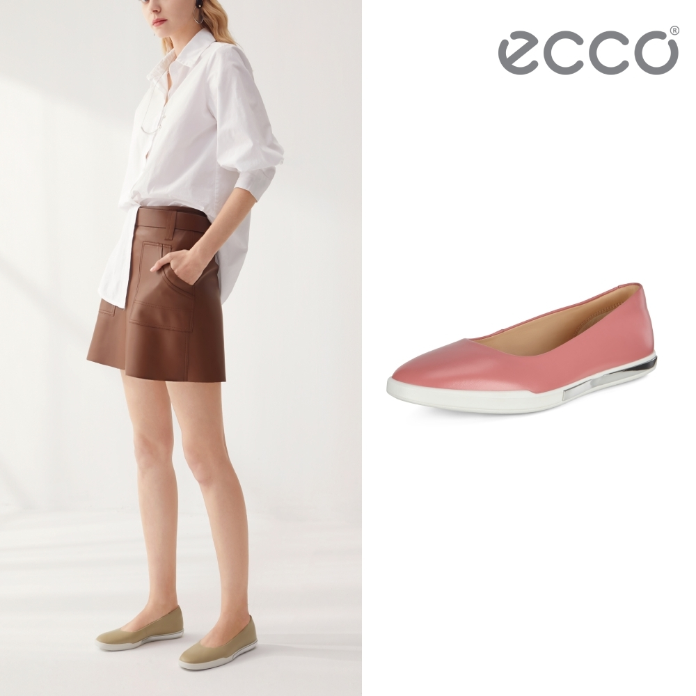 ECCO SIMPIL II W 極簡美型舒適平底鞋 女鞋 大馬士革粉