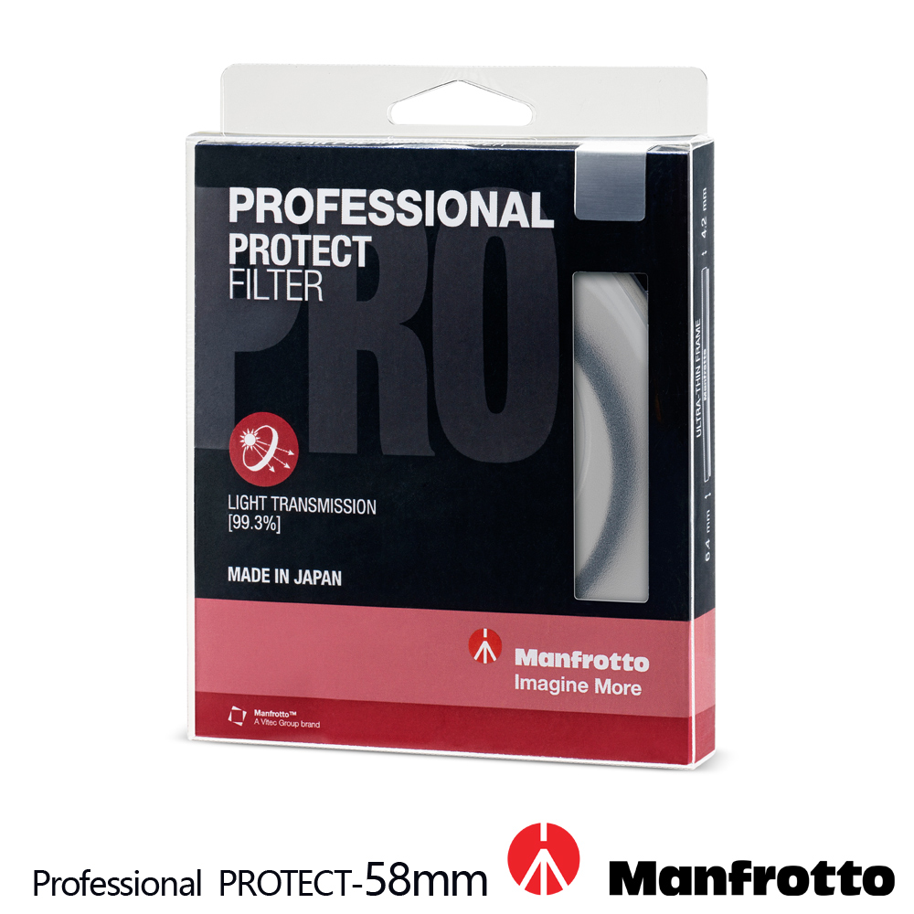 Manfrotto 58mm 保護鏡 Professional 濾鏡系列