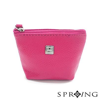 SPRING-特價-微風城市鑰匙圈零錢包-時尚桃