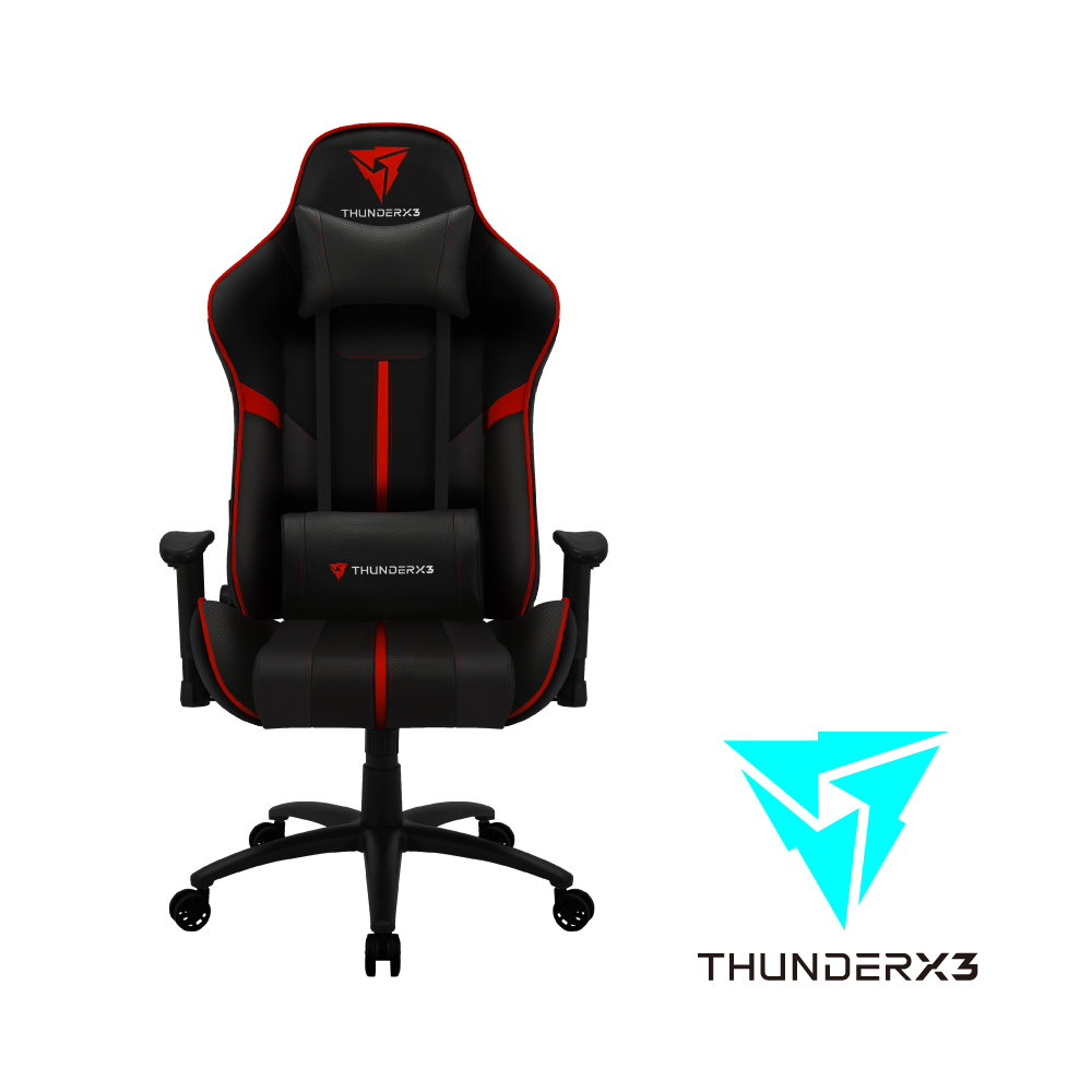 【ThunderX3】BC3  AIR系列 電競賽車椅(黑紅色)