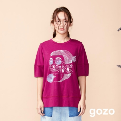 gozo 女孩的異想世界設計插畫上衣(二色)