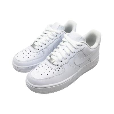 NIKE 皮革 休閒 運動鞋 白 女款 315115112 WMNS AIR FORCE 1 07 LE