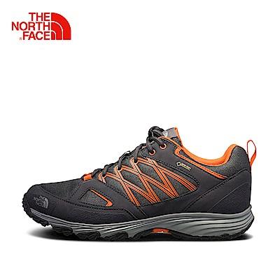 The North Face北面男款橘色抓地防水徒步鞋