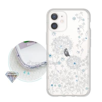 iPhone 12 mini 5.4吋 浪漫彩繪 水鑽空壓氣墊手機殼(風信子)