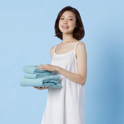Yvonne Collection 長毛巾+大浴巾-灰藍