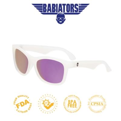 【美國Babiators】鑰匙孔系列嬰幼兒太陽眼鏡-俏麗紫白(偏光)0-6歲以上