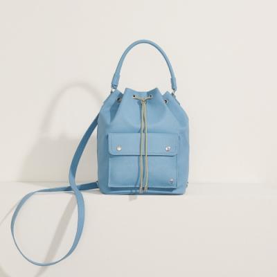 PORTER - 輕甜繽紛SPIRIT百搭時尚水桶包 - 天影藍(銀)
