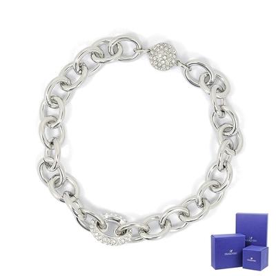 SWAROVSKI 施華洛世奇 Elements璀璨鎖鏈磁扣銀色手鍊手環