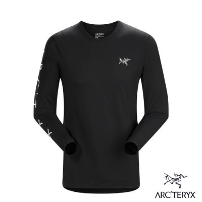 Arcteryx 始祖鳥 男 24系列 Downword 百分百有機棉 長袖T恤 黑