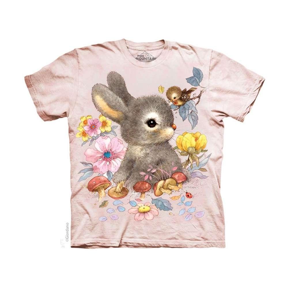 摩達客-美國The Mountain 小兔寶寶 兒童版純棉環保短袖T恤