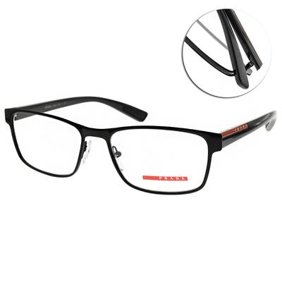 PRADA光學眼鏡 經典方框款/黑 #VPS50G 1AB-1O1
