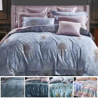 La Lune 300織紗特級長纖絨棉雙人加大床包枕套3件組 多款任選