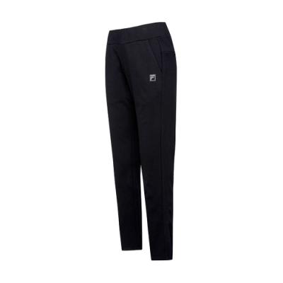 FILA 女針織長褲-黑色 5PNT-5609-BK
