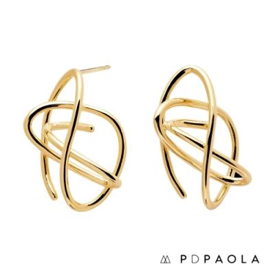 PD PAOLA 西班牙輕奢時尚品牌 幾何線條鍍18K金耳環