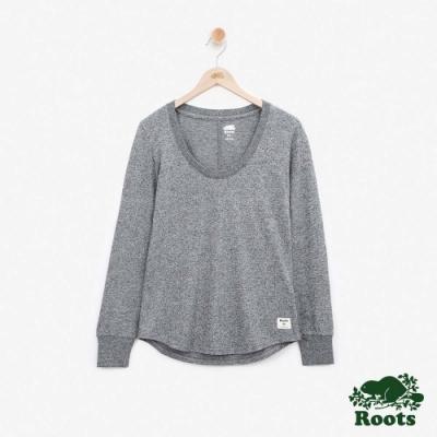 女裝Roots - 圓領長袖T恤-灰色