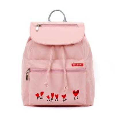 ELLE Active 熱愛追隨系列-束口後背包-粉紅色