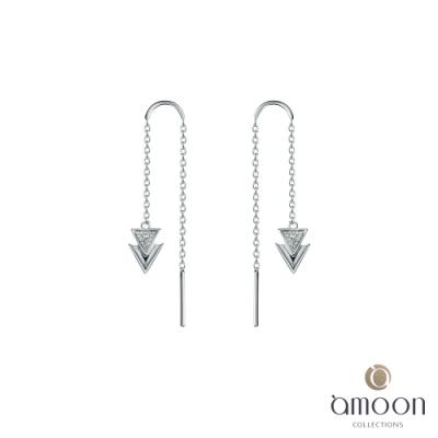 amoon 法式浪漫艾菲爾系列 眺望K金鑽石耳環