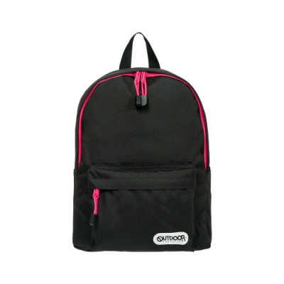 【OUTDOOR】玩色系列-後背包-黑/粉色 OD101128BKP