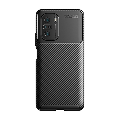 TOTOMO For:POCO F3 手機殼時尚碳纖紋路+抗指紋-NEW