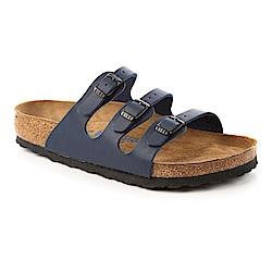 勃肯BIRKENSTOCK554711佛羅里達三條復古拖鞋(藍)