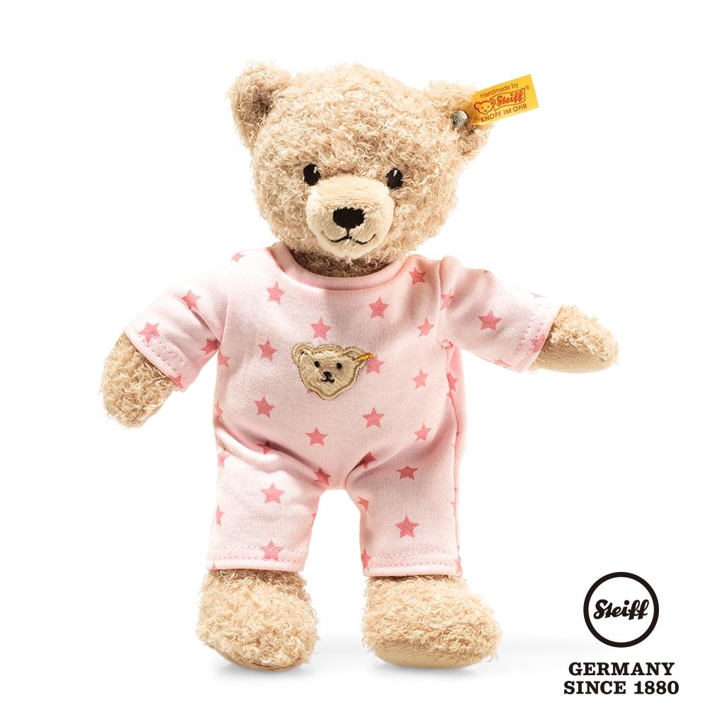 STEIFF德國金耳釦泰迪熊  粉色小星星晚安熊  Teddy bear girl baby with pyjama  (嬰幼兒玩偶)