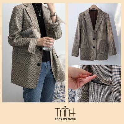 韓國挺版格子西裝外套-TMH