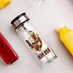 Marvel漫威 鋼鐵人雙層耐熱玻璃商務杯280ml(快)