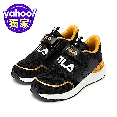 FILA KIDS 大童ETPU輕量慢跑鞋黑 3-J403V-099