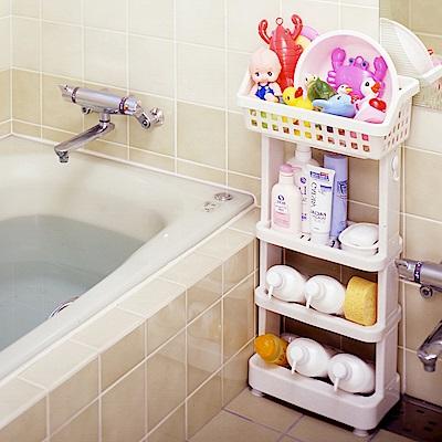 【日本ISETO】日製浴室斜取置物架-4層