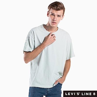 Levis 男女同款 短袖T恤 Line 8系列 寬鬆版型 低調袖管印花