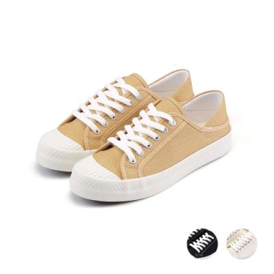 ARRIBA艾樂跑女鞋-懶人帆布鞋-卡其/黑/白(AB9002)