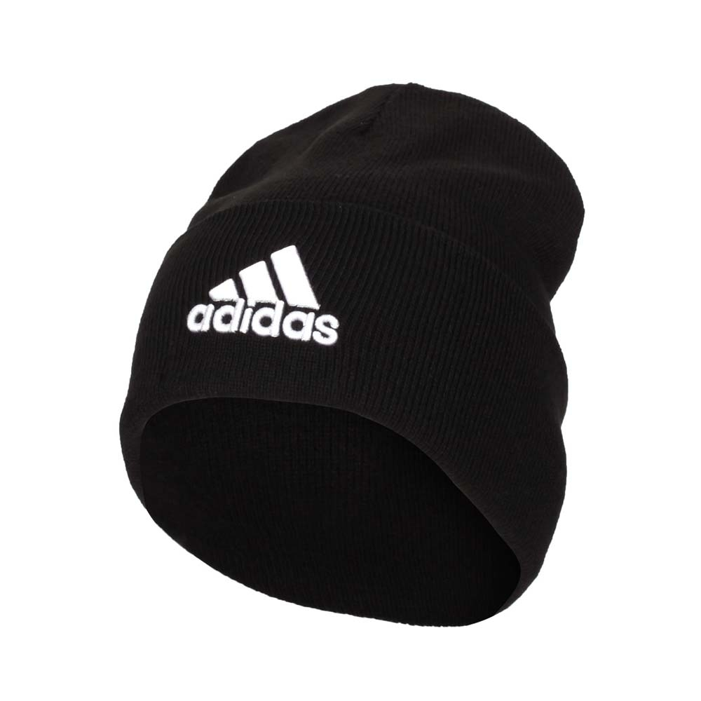 ADIDAS 毛帽-台灣製 針織 毛線帽 保暖 愛迪達 FS9022 黑白