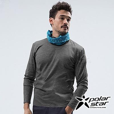 PolarStar 男 遠紅外線高領保暖衣『黑色』 P18231