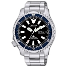CITIZEN 星辰 200米潛水機械手錶NY0098-84E-黑X藍框/42mm