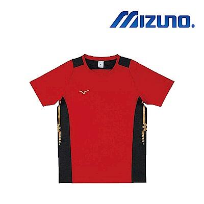 Mizuno 美津濃 男女 排球上衣 紅黑 V2TA8G1962