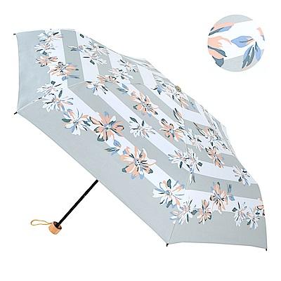 2mm 100%遮光 百合花朵黑膠輕量手開傘 (灰色)