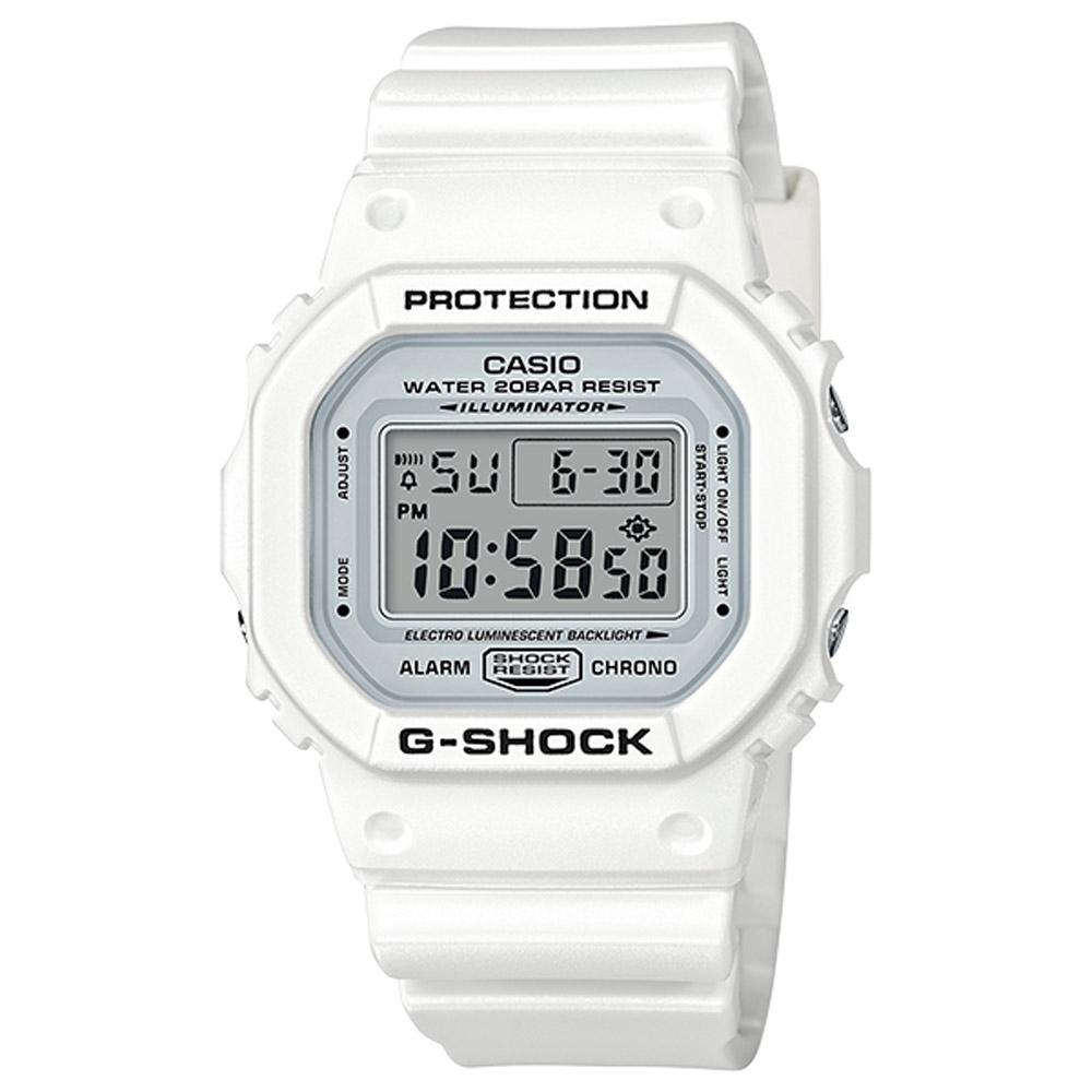 CASIO卡西歐 經典白色G-SHOCK系列(DW-5600MW-7D)