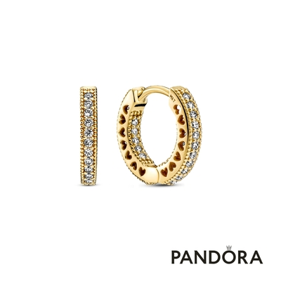 【Pandora官方直營】Pandora Signature密鑲寶石單圈耳環