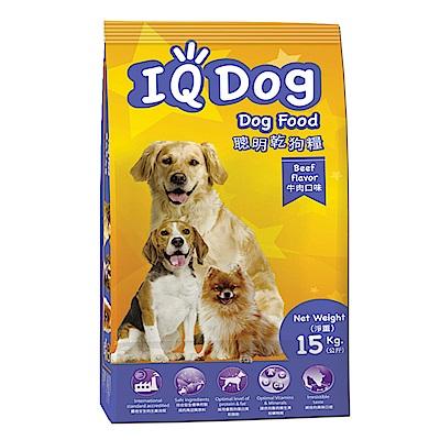 IQ Dog 聰明乾狗糧 - 牛肉口味成犬配方 15+1kg(加量包)