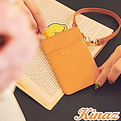KINAZ 伸縮手挽帶好收納票卡夾-沉穩棕力量-小物魔法系列